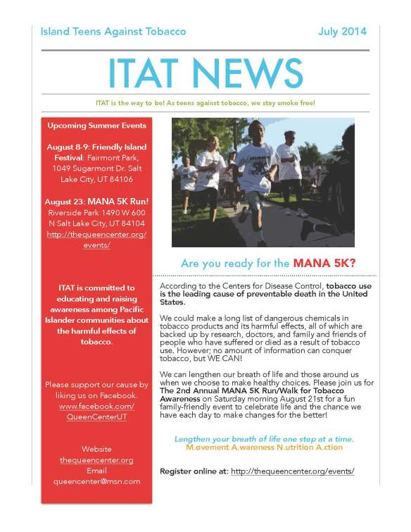 July 2014 Newsletter